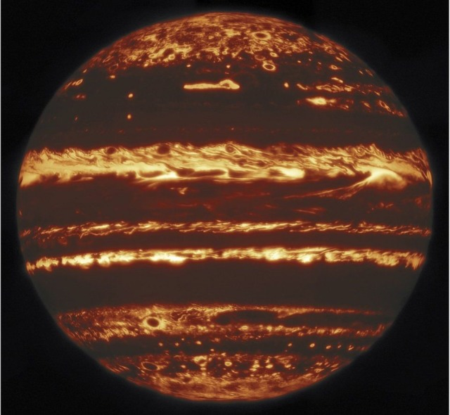 jupiter infrared on fire