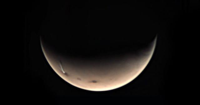 mars strange cloud reappears