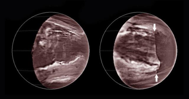 venus planet scale wave poisonous clouds