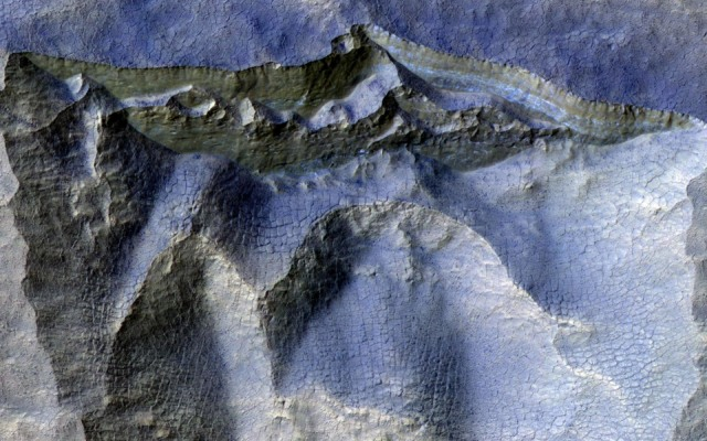 cliffs ancient ice mars