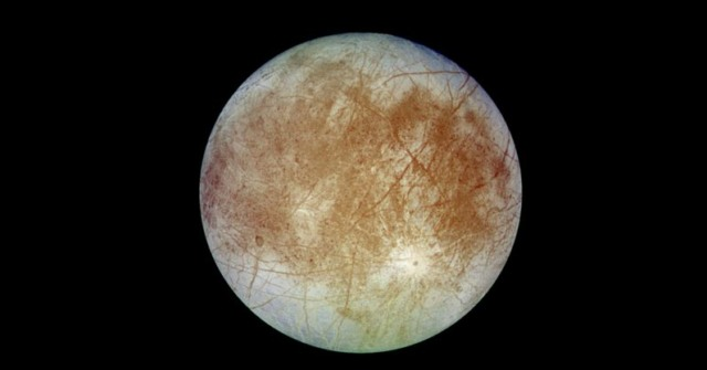 jupiter's moon europa glows in the dark