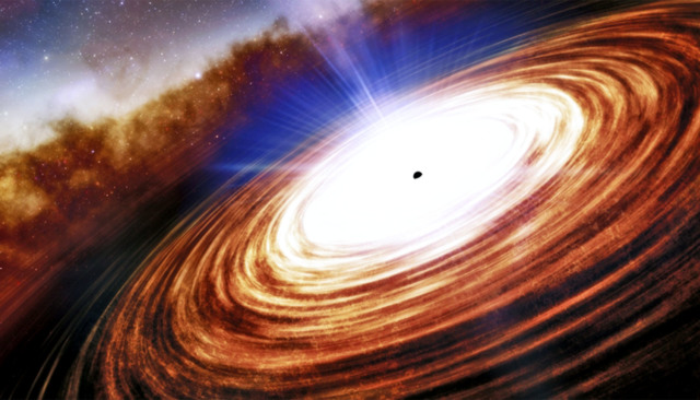 most distant quasar has mass of 1.6 billion suns