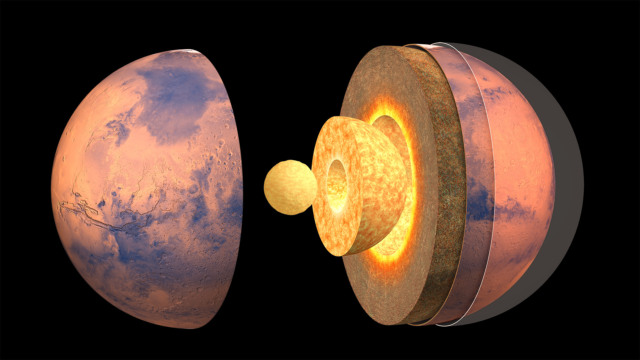 scientists measure the size of mars core