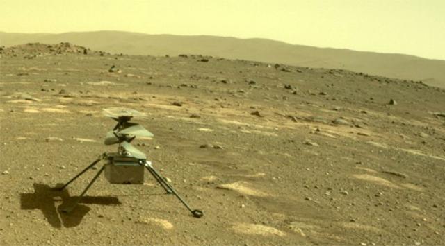 nasa mars helicopter online sent back photo