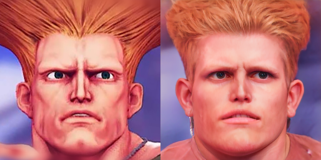 street fighter v ai human faces