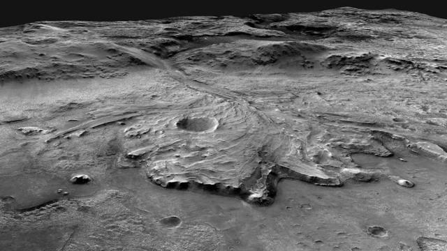 nasa rover martian crater lake